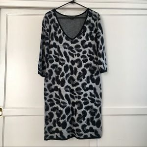 Lovely Animal Print Dress Sz L